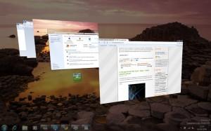 The Windows 7 flip 3D