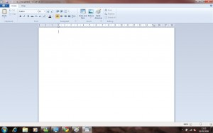 The new WIndows 7 Wordpad